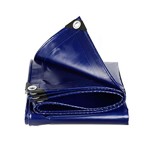 EastMetal Impermeable Reforzada Lona de Protección [500 g/㎡] + Cuerda con Ojetes Metálicos, con Ojetes Metálicos (Color Azul),3x4m
