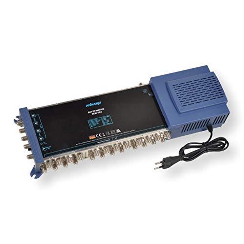 ANKARO Multischalter SEM 5/24 für den Empfang Einer Satellitenposition an bis zu 24 Teilnehmer / 4K, 3D, UHD tauglich/Quattro und Quad LNC geeignet