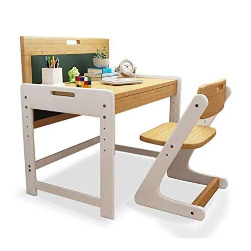 N/Z Tägliche Ausrüstung Tischstühle Set Computer Student Schreibtisch Massivholz Kiefer Malerei Schreiben Sie Hausaufgaben mit Sketchpad Schublade 1 Kinderstudientisch + 1 Stuhl