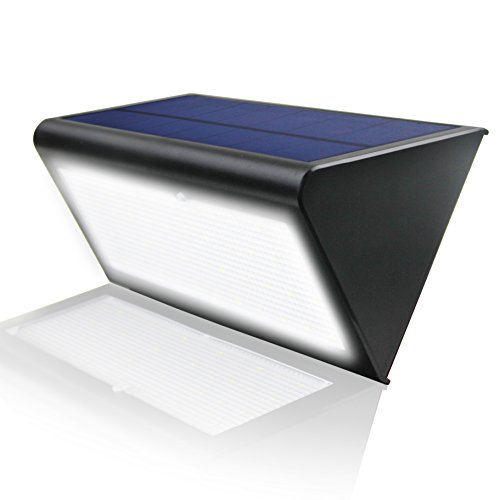 Radar Motion Sensor Light Outdoor LED Solar Wall Lights 48 LEDs 800LM Waterproof Exterior Security Lamp, 33ft Sensing Distance, 360