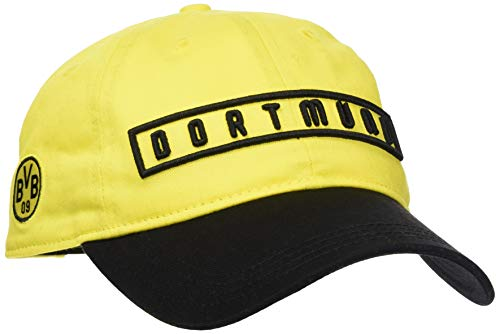PUMA BVB Fan Cap Schirmmütze, Black-Cyber Yellow, OSFA