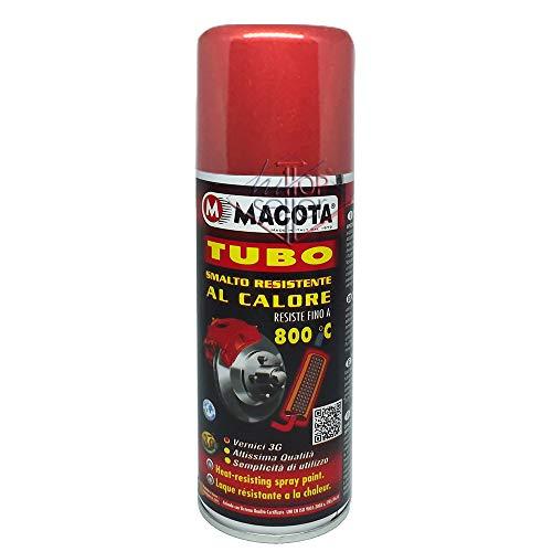 MACOTA Spray Smalto Vernice 3G Resistente ad Alte Temperature per Auto Moto 200ml (Rosso)