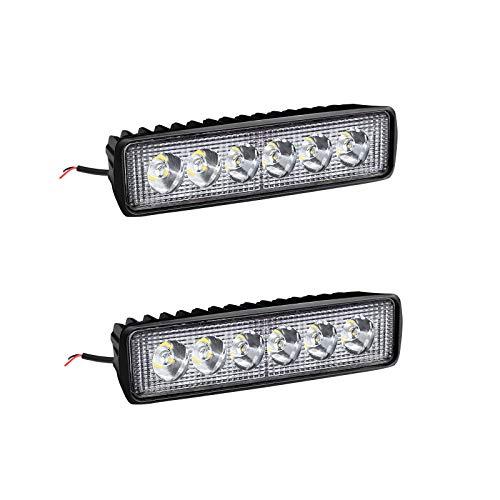 2 X 18W LED Arbeitsscheinwerfer Light Bar Arbeitslicht – LED Zusatzscheinwerfer IP67 Aluminium für Reflektor Offroad Agrar Traktor