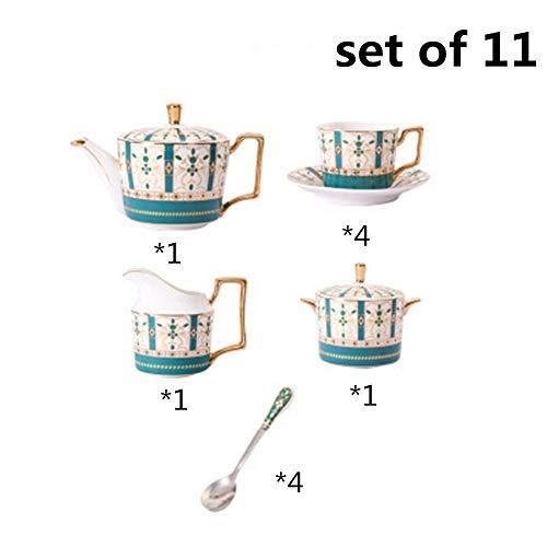 Purchase Porcelain Tea Set 15 Pieces Afternoon Tea Drinkware Coffee Set European Style Glazed Porcel...