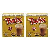 Twix Pods - Juego de 2 cápsulas de Bebidas para Cacao, Bebidas de Chocolate, Cerrojo, Compatible con Dolce Gusto, 2 x 8 cápsulas