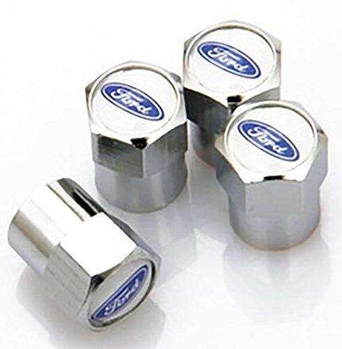 Staubkappen-Reifenventil, für Ford Ka, Fiesta, Mondeo, Focus. KFZ-Plakette, Alufelgen, Plakette mit Logo/Emblem