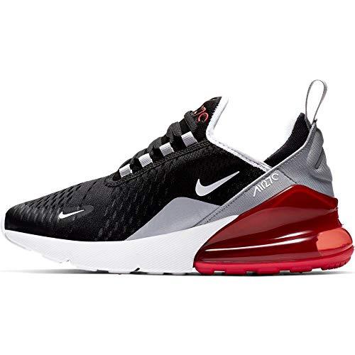Nike Air Max 270 (GS), Scarpe da Atletica Leggera Uomo, Multicolore (Black/White/Ember Glow/Wolf Grey 013), 38.5 EU