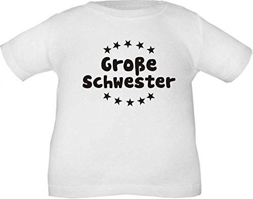 Kinder T-Shirt Große Schwester (Farbe Weiss) (Größe 110/116) Cook