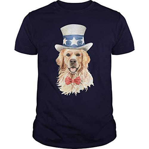 Rockboy Golden Retriever Disfraz Divertido Lindo Perro Camiseta 6XL