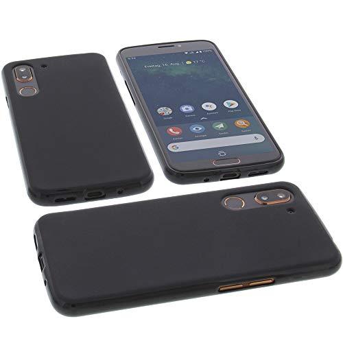 Hülle für Doro 8080 Tasche Gummi TPU Schutz Handytasche schwarz
