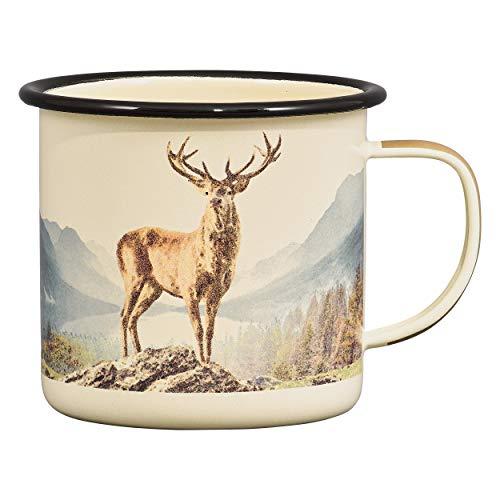 Gentlemen's Hardware Camping and Outdoor Enamel Coffee Mug, Deer, 500 ml
