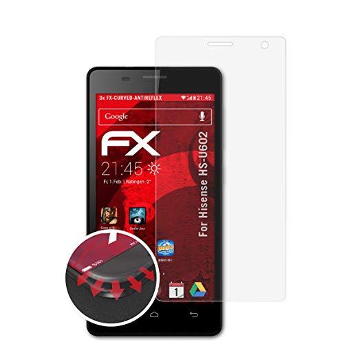 atFolix Schutzfolie kompatibel mit Hisense HS-U602 Folie, entspiegelnde & Flexible FX Bildschirmschutzfolie (3X)
