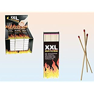 Extra-long XXL Fireside Matches in cardboard box 40 sticks in one box