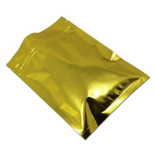"""Multifuncional El Oro del Papel De Aluminio Ziplock Bolsa con Cremallera De Bloqueo Lámina De Embalaje De Alimentos Bolsa De Almacenamiento (10 X 15 Cm (3,9"""" X 5,9"""")) Ziplock Bolsa Food Retailer Paqu"""
