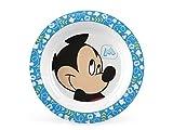 Lulabi Disney Mickey, Piatto Fondo, Melamina, 21 cm, Azzurro, 6+ mesi