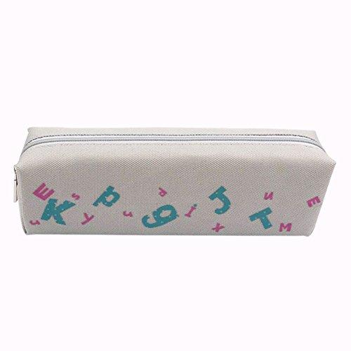 Lumanuby 1x Etui à crayons Trousse à crayon sac Pencil case Creative Crayon Sac de Toile sac de crayons Canevas à Rayures grande capacité Sacs Cosmetic Maquillage Petite Poche Sac de rangement