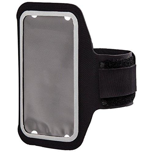 Hama Sportarmband für Smartphones (Bis 8,2 x 0,7 x 15 cm größenverstellbar, Schweißresistent) schwarz