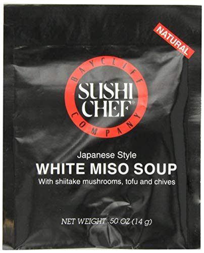 Sushi Chef White Miso Soup Mix, 0.50-Ounce Packets (Pack of 12)