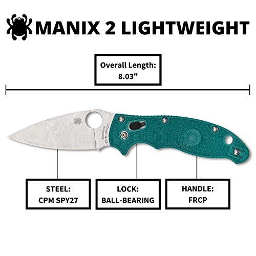 Spyderco Manix 2 Lightweight Signature Folding Knife with 3.37