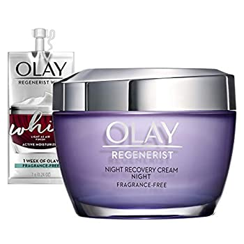 Olay Regenerist Night Recovery Cream Whip Face Moisturizer Fragrance Free 1.7 Oz Travel/Trial Size Gift Set