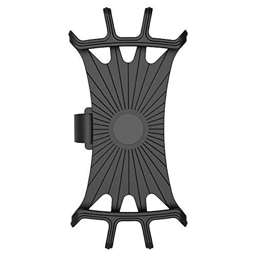 Clevoers Handyhalterung Fahrrad, Silikon Verstellbarer Fahrradhalterung für Smartphones mit der Bildschirmgröße von 4-6.3 Zoll, Einfach Montage, Ideal für Mountainbike, Rennrad & Motorrad