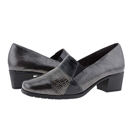 DOCTOR CUTILLAS - Zapato con Plantilla Extraible Y ELÁSTICOS Laterales. Material Muy Suave. Sintético Mujer Color: Antracita Talla: 41