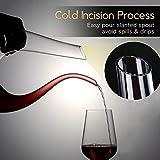NUTRIUPS Rotwein Dekantierer, Weinkaraffe Rotwein, Bleifreie Weinkaraffe, Weinkaraffe aus Kristallglas, 1.5L Wein-Dekantiergefäß, U-förmiger Weinbelüfter, Dekantierer mit Kostenloser Reinigungsbürste - 5