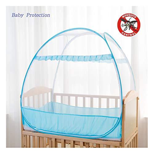 Sicherheits-Pop-Up-Zelt für Babybett, Betthimmel, Sichtschutz für Kinderzimmer, Moskitonetz für Babybett, Kinderbett, Zelt gegen Mückenbisse und Herunterfallen