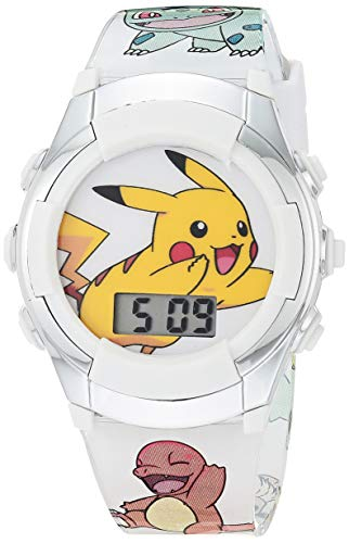 Pokemon Boys' Quartz Watch with Rubber Strap, Multicolor, 13 (Model: POK4240AZ)