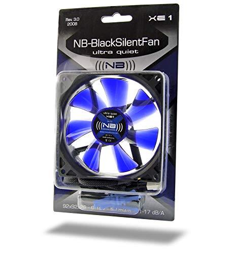 (((noiseblocker))) BlackSilentFan XE-1 - 92x92x25mm - 3Pin - 1500U/min - 17dbA - 50m3/h
