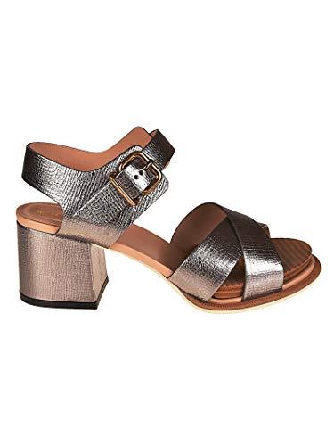 Tod's Luxury Fashion Damen XXW19A0Y510HESB201 Silber Leder Sandalen | Jahreszeit Permanent