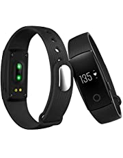ID107 Smart Watch Bluetooth Heart Rate Monitor Remote Camera Pedometer Fitness Tracker Caller ID