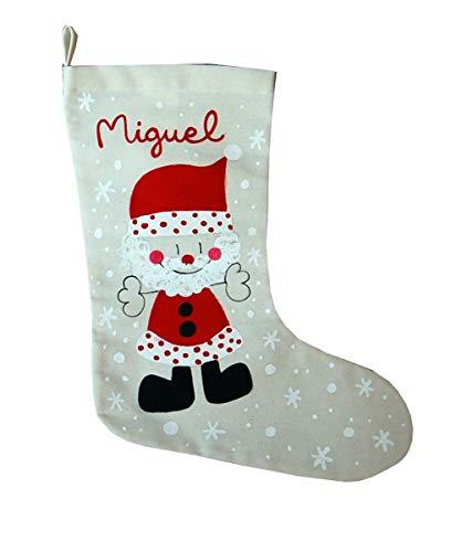 Calcetin Papá Noel personalizado