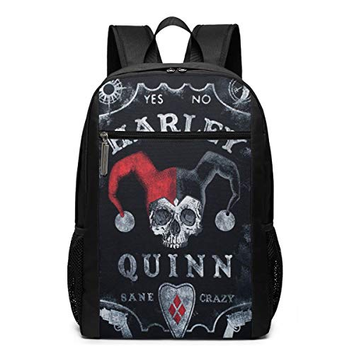 Harley Quinn Ouija Board 3D Printed Lightweight Durable Laptop Backpack Funny Daypack Book Bags for School Travel Hiking Sport