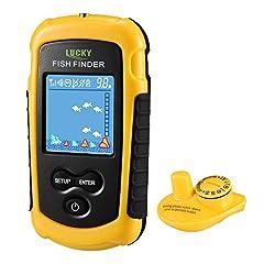 LUCKY Fish Finder Wireless Color Portable Portable Portable Fishing Sonar Sensor LCD Deep Finder Echo Sonar*