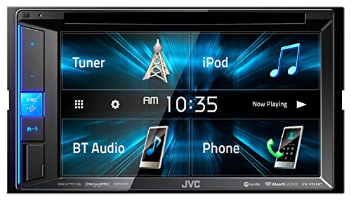 """JVC KW-V250BT Multimedia Receiver Featuring 6.2"""" WVGA Clear Resistive Touch Monitor/Bluetooth / 13-Band EQ"""