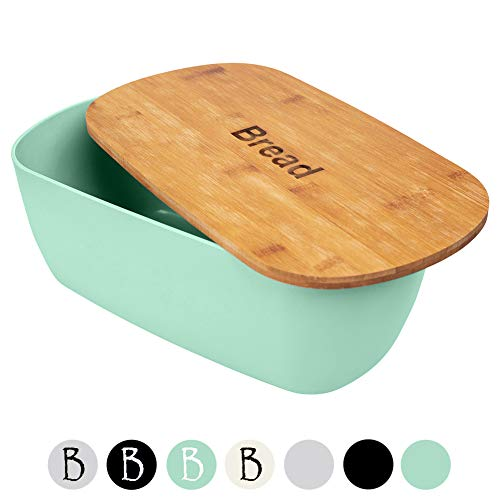 ORION GROUP Brotkasten mint Brotbox mit Bambus Deckel Brot Bread Bamboodeckel