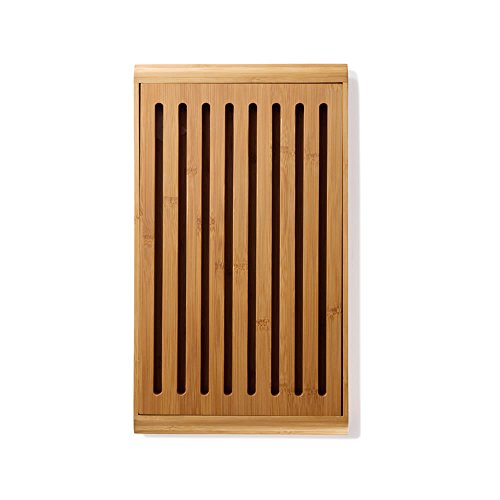 "bambu, Gaby Bamboo Crumb Cutting & Serving Bread Board, Food-Safe Kitchen Tool - 14"" x 9"""