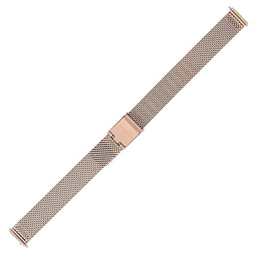 Liebeskind Berlin Uhrenarmband 12mm Edelstahl Rosegold Mesh/Milanaise - Uhrband 137