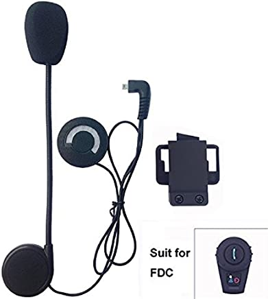 FreedConn Auriculares Para Casco Moto Intercom Talkie accesorio Clip y auriculares manos libres para el FDCVB casco de la motocicleta de Bluetooth Interphone del intercomunicador