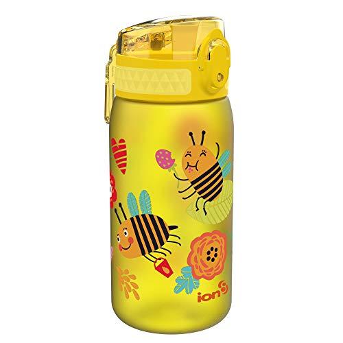 Ion8 Niños Botella Agua, Sin Fugas, Abejas, 400ml