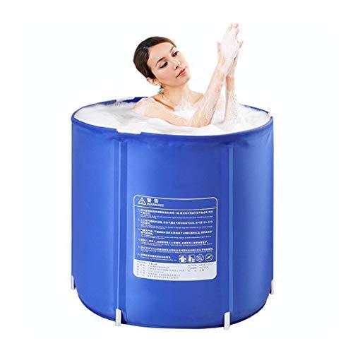 Qiutianchen Tina Plegable engrosadora de NO-SILP, Adulto Cubo de baño de bañera no Inflable for Adultos Tamaño de la Piscina pequeña: 70 * 70 cm remojamiento