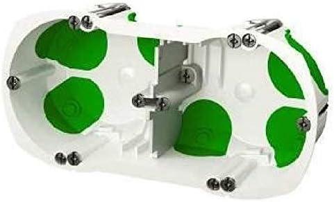 Schneider Electric SC5S262069 Double prise de courant pr/é-c/âbl/ée Griffes Ovalis complet 230 V /& SC5IMT35247 Bo/îte double avec syst/ème /étanche /Ø 67 mm Vert