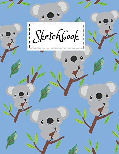 Sketchbook: Cute Baby Koala Bear Cartoon Themed Cover Design Sketchbook 8.5' x 11' For Kids Girls Boys Men Women Teens For Drawing, Painting & doodling - Perfect Gifts For Koala Lovers.
