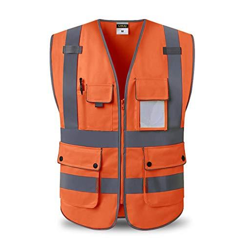 Oranje reflecterend veiligheidsvest meervoudige werkkleding veiligheidsvest reizen 's nachts veiligheid Liuyu.
