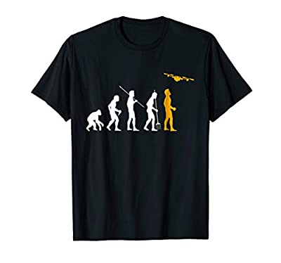 Quadcopter Drone Evolution Enthusiast Novelty Gift T-Shirt