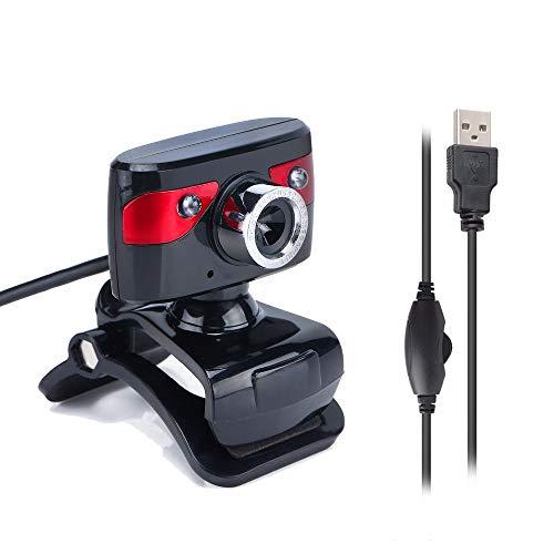USB 12.0Megapixel Camera Webcam met Microfoon Nachtlampje voor Computer Web Camera Youtube/Gaming voor Desktop Skype/Online Onderwijzen