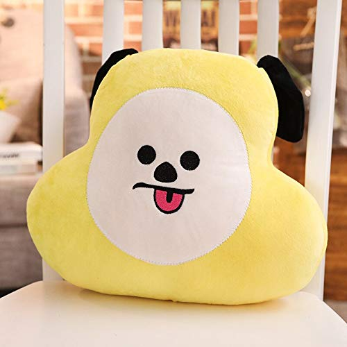 NMJHG Plush Toy Stuffed Toy Doll and Pac Man Koala Plush Smiling Face Cushion Pillow Baby Toys Gifts Home Decoration Yellow