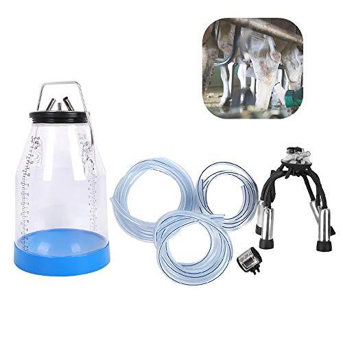 Jadpes Melkmachine voor mobiele teelt, draagbare transparante dubbele weegschaal, 25 liter, koelmelkmachine, emmertank voor schapengeiten, koeimelkkit
