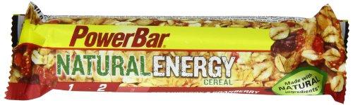 PowerBar Natural Long Lasting Energy, 40g Bar x 24 Bars - Strawberry & Cranberry